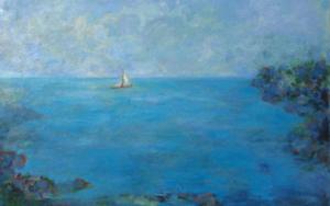 Carabela|PinturadeGuillermo Serrano de Entrambasaguas| Compra arte en Flecha.es