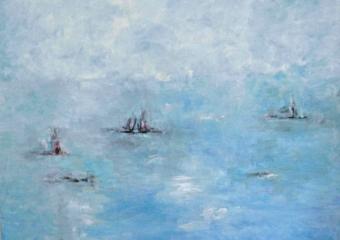 Entre la bruma II|PinturadeGuillermo Serrano de Entrambasaguas| Compra arte en Flecha.es