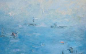 Entre la bruma|PinturadeGuillermo Serrano de Entrambasaguas| Compra arte en Flecha.es