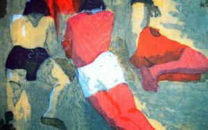 Los chicos en la playa.|Obra gráficadeJenifer Carey| Compra arte en Flecha.es