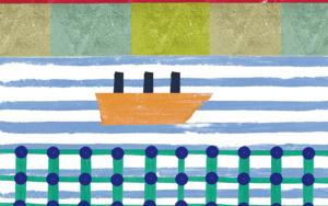 Navegando|IlustracióndeTeresa Arroyo Corcobado| Compra arte en Flecha.es