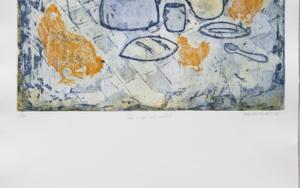 Las migas del mantel|Obra gráficadeAna Valenciano| Compra arte en Flecha.es