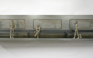 El banco que espera al tren II|EsculturadeMarta Sánchez Luengo| Compra arte en Flecha.es