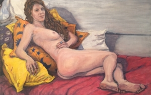 Los Almohadones Amarillos|PinturadeJaelius Aguirre| Compra arte en Flecha.es