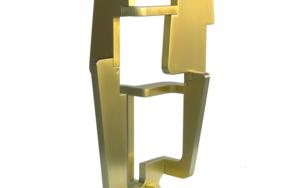 Industrial Gold_02|EsculturadeCandela Muniozguren| Compra arte en Flecha.es