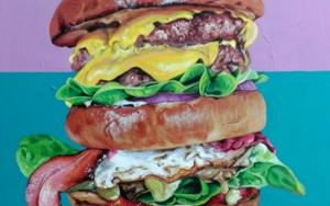 Hamburguesa|PinturadeJorge perez| Compra arte en Flecha.es