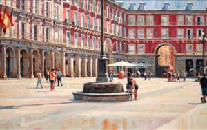 Plaza Mayor. Madrid|PinturadeBALSERA| Compra arte en Flecha.es