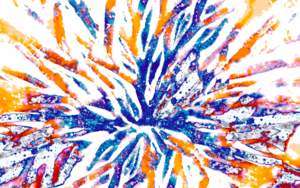 Estallido Azul  2|DigitaldeMarta Caldas| Compra arte en Flecha.es
