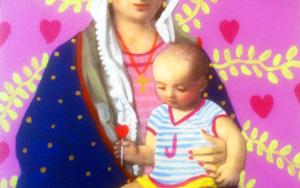 Virgen Guapa del amor de madre PinturadePaco Sánchez  Compra arte en Flecha.es