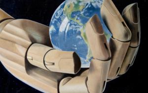 El mundo en tus manos|PinturadeSoraya Güell| Compra arte en Flecha.es