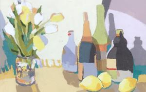 Bodegón de los tulipanes|PinturadeJavier AOIZ ORDUNA| Compra arte en Flecha.es