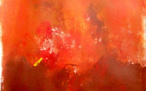 Orange brown field|PinturadeLuis Medina| Compra arte en Flecha.es