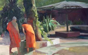 Jardín de la paz|PinturadeCarmen Montero| Compra arte en Flecha.es