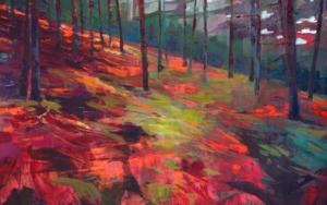 Helechos rojos PinturadeCarmen Montero  Compra arte en Flecha.es