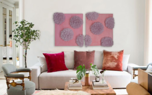 Pink Peonies PinturadeNadia Jaber  Compra arte en Flecha.es