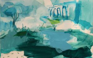 VERDE SOLEDAD|PinturadeMarta Aguirre| Compra arte en Flecha.es