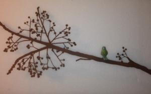 Ramita con frutos y pájaro|EsculturadeCharlotte Adde| Compra arte en Flecha.es