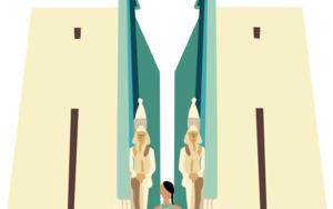 Tebas debe ser una ciudad importante|DibujodeSara Novovitch| Compra arte en Flecha.es