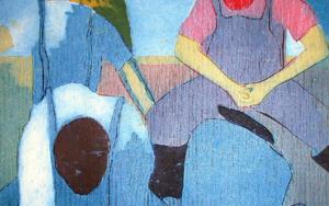 Los pescadores II|Obra gráficadeJenifer Carey| Compra arte en Flecha.es