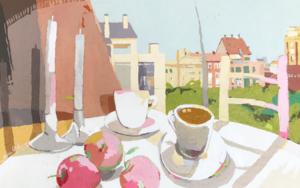 Desayuno con manzanas II|PinturadeJavier AOIZ ORDUNA| Compra arte en Flecha.es