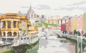 San Antón Bilbao III|PinturadeJavier AOIZ ORDUNA| Compra arte en Flecha.es