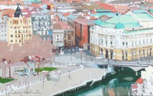 Arriaga Bilbao IV|PinturadeJavier AOIZ ORDUNA| Compra arte en Flecha.es