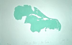GOLFO DE MÉXICO Y MAR CARIBE III|Obra gráficadeJaelius Aguirre| Compra arte en Flecha.es