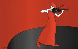 Mujer toca el violín|Obra gráficadeLola Barcia Albacar| Compra arte en Flecha.es