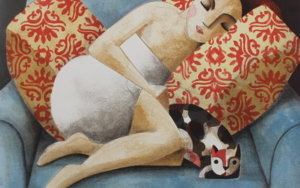 Blue Sofa|Obra gráficadeDidier Lourenço| Compra arte en Flecha.es