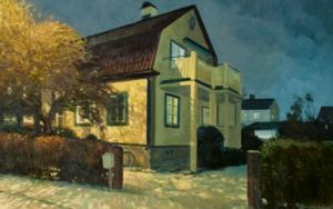 Luces y sombras en una noche de invierno|PinturadeOrrite| Compra arte en Flecha.es