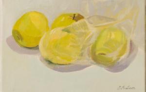 Manzanas para Helena|PinturadeIgnacio Mateos| Compra arte en Flecha.es