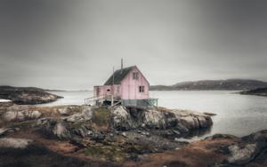 La casa rosa. Itillet|DigitaldeRoberto Iván Cano| Compra arte en Flecha.es