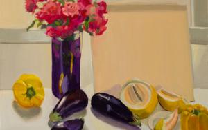 Violeta y amarillo|PinturadeIgnacio Mateos| Compra arte en Flecha.es