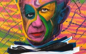 Pablo Picasso (Pink)|PinturadeSilvio Alino| Compra arte en Flecha.es