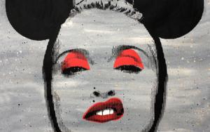 Pop Icon - Madonna  ( Grey) PinturadeSilvio Alino  Compra arte en Flecha.es