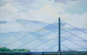 Puente de Düsseldorf|PinturadeLuis Monroy Esteban| Compra arte en Flecha.es