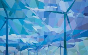 Aerogeneradores|PinturadeLuis Monroy Esteban| Compra arte en Flecha.es