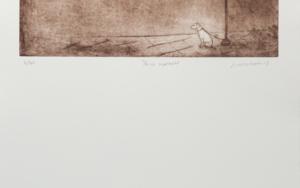 Perro esperando|Obra gráficadeAna Valenciano| Compra arte en Flecha.es