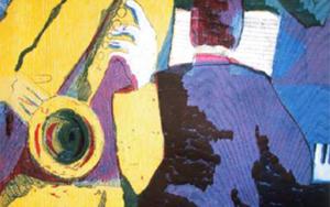 Jazz trío|Obra gráficadeJenifer Carey| Compra arte en Flecha.es