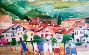 Desde la orilla, Deba|PinturadeCarlota Rios| Compra arte en Flecha.es
