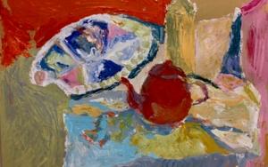 BODEGÓN CON TETERA Y PALETA|PinturadeIraide Garitaonandia| Compra arte en Flecha.es