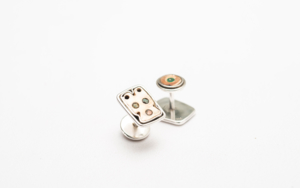 Gemelos de plata 950 y gatitos de madre perla|JoyeríadeEster Ventura| Compra arte en Flecha.es