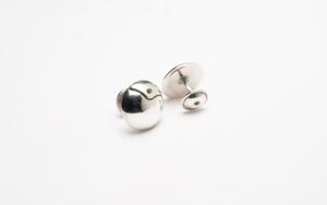 Gemelos de plata 950 circulares|JoyeríadeEster Ventura| Compra arte en Flecha.es