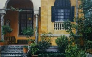 Jardin de Sorolla-entrada|PinturadeCarmen Nieto| Compra arte en Flecha.es