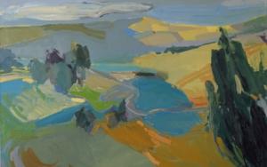 """Paisaje azul de Segovia""|PinturadeCarolina Veramendi B| Compra arte en Flecha.es"