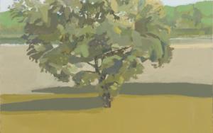 Pardo y verde: retrato de una encina.|PinturadeIgnacio Mateos| Compra arte en Flecha.es