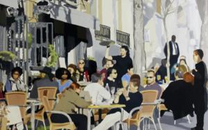 terraza en el borne|PinturadeJose Belloso| Compra arte en Flecha.es