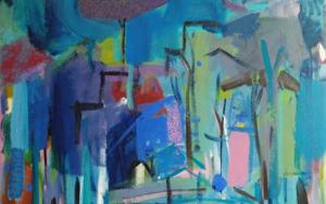 EL ÁRBOL DE LA CIUDAD|PinturadeJCuenca| Compra arte en Flecha.es