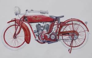 Moto India Scout 1927 PinturadeMiguel Ortega Mesa  Compra arte en Flecha.es