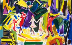 Dances in the meadow|PinturadeMaciej Cieśla| Compra arte en Flecha.es